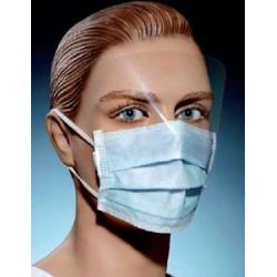 Mascherina chirurgica con visiera.