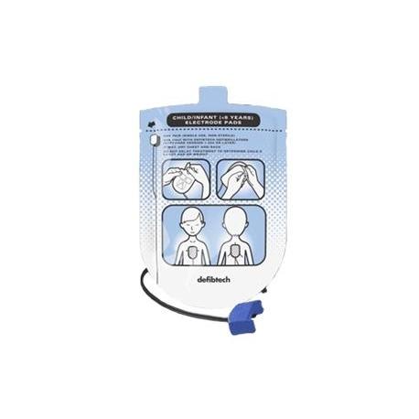 Set elettrodi defibrillazione, Pediatrici.