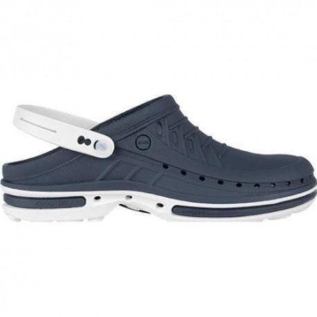 Zoccolo Professionale WOCK CLOG bicolore Blu Navy/Bianco